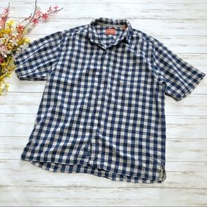 Mens Tommy Bahama Blue Checkered Button UP Shirt